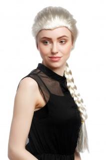 Perücke Damen Karneval Cosplay Blond Hellblond langer Zopf geflochten Prinzessin