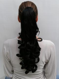 Haarteil/Zopf, schwarz, black, gelockt, Länge ca. 45 cm, NC-19-2