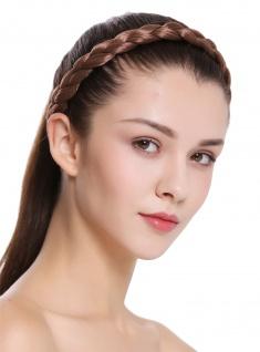Haarband Haarreif geflochten traditionell sehr breit hellbraun braid CXT-005-010