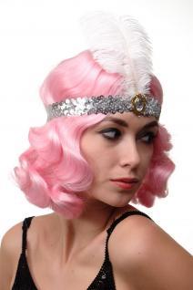Haarband Haarreif Stirnreif Pailletten silber Charleston 20er VQ-006-silber