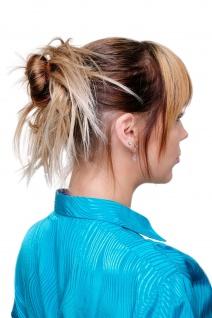 Haarteil Scrunchie Scrunchy Haarband Dunkel- & Hellblond Strähnen XJ-7001-16T88
