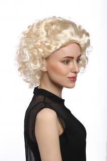 Perücke Damen Karneval Halloween Blond Kurz Locken Filmstar Diva Movie Star