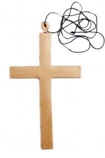Karnevalsartikel Accessoire Kreuz Plastikkreuz f. Priester Mönch Exorzist MM-009