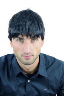 Perücke Herrenperücke Männer kurz schwarz schwarzbraun glatt WL-0204-2 Wig Men - Vorschau 4