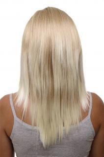 Clip-in Haarteil mit 5 Klammern, 3/4 Perücke, Blond-Mix, ca. 50cm HD1401-15BT613