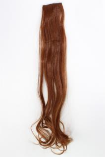 2 Clips Extension Strähne wellig Rot-Braun YZF-P2C25-30 65cm Haarverlängerung