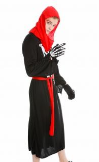 Kostüm Herren Damen Halloween Skelett Knochengerippe Mönch Zombie Dämon Gr. S/M - Vorschau 3