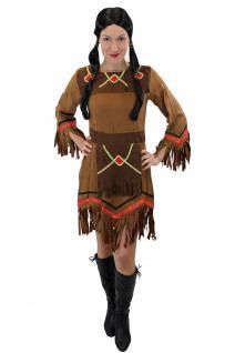 Kostüm Kleid Damen Damenkostüm Indianerin Squaw Indianerfrau Western L029