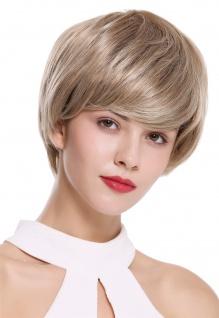WIG ME UP Damenperücke Perücke kurz voll Volumen glatt Braun Blond gesträhnt