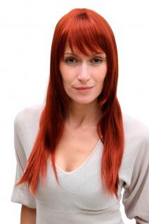 Damenperücke Wig rot glatt lang kupfer rot Haarersatz ca 50 cm 3280-130