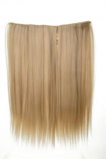 Haarteil breit Haarverlängerung 5 Clips glatt Blond Platinblond 45cm L30173-613