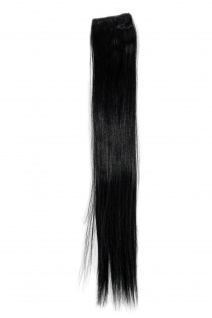 2 Clips Extension Strähne glatt Schwarz YZF-P2S18-1 45cm Haarverlängerung NEU