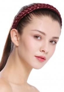Haarband Haarreif geflochten Tracht traditionell granatrot braid CXT-002-120