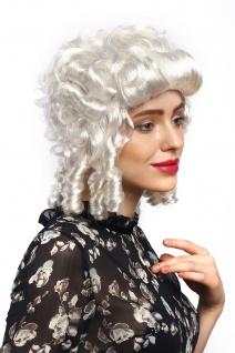Perücke Damen Karneval Fasching Barock Renaissance Weiß Locken Edeldame Königin