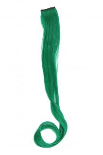 1 Clip Extension Strähne Haarverlängerung wellig Dunkelgrün 45cm YZF-P1C18-T2615