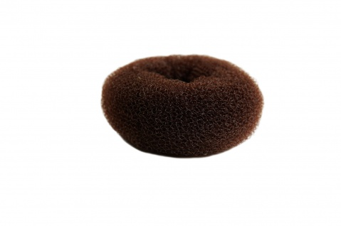 Duttkissen Haardutt Dutt Kissen Ring Haarrose Volumen Styling braun medium 8x4cm