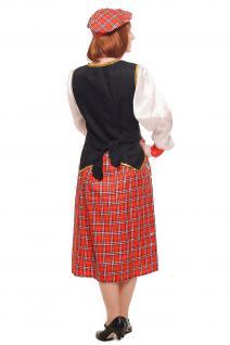 Kostüm Damen Damenkostüm Schotte Schottin Scotswoman Schottland Scot K46 - Vorschau 4