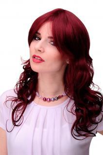 Unwiderstehlich lockige Damen-Perücke Rot Granatrot ca. 55 cm lang 9669-39