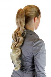 Langes, gewelltes Haarteil/Zopf Blondmix auslaufende Spitzen DM21-27T613 60cm