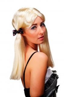 Karneval Fasching Perücke Cosplay Hellblond glatt lang Zöpfe Cute 63013-P88 - Vorschau 4