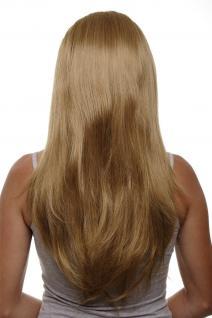 Clip-in Haarteil mit 7 Klammern 3/4 Perücke Blond Aschblondes Haar 60cm H9505-19