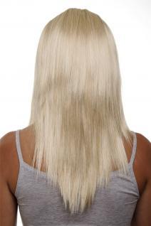 Clip-in Haarteil 5 Klammern 3/4 Perücke Helles Goldblond blond 50cm HD1401-611