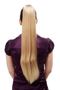 Haarteil/Zopf sehr lang glatt Butterfly-Klammer 70 cm Blond-Mix T113-27T88