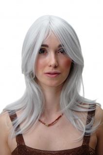 WIG ME UP Damenperücke Perücke mittellang glatt weiß grau Cosplay 45cm 3240-001