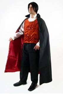 Kostüm DRACULA Vampir Gothic HALLOWEEN Herren Transsilvanien Blutsauger K38 - Vorschau 3