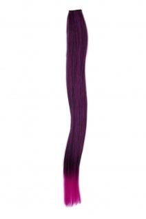 1 Clip-In Extension Strähne Haarverlängerung glatt Lila 45cm YZF-P1S18-1BTTF2405