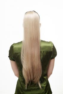 Haarteil, Zopf, Streckkamm, Band, glatt, blond, Länge: ca. 65 cm, D13001-24