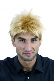 Perücke Herrenperücke Männer kurz Blond Goldblond Mix wild gesträhnt TC-1012