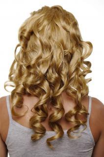 Clip-in Haarteil mit 7 Klammern, 3/4 Perücke, Blond, ca. 50cm H9503-24B