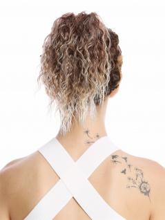 Haarteil Zopf kurz voluminös lockig Krepplocken gekreppt Kinks Blond Rotbraun