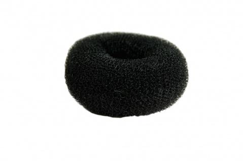 Duttkissen Haardutt Dutt Kissen Ring Haarrose Volumen Styling schwarz medium 8x4