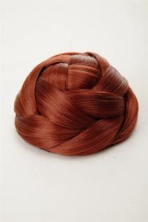 Dutt Haarteil aufwendig geflochten Haarknoten Brautschmuck Kupfer-Rot Q399D-350 - Vorschau 4