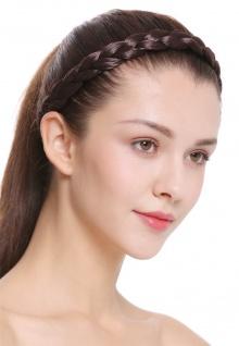 Haarband Haarreif geflochten Tracht traditionell braun braid CXT-007-006