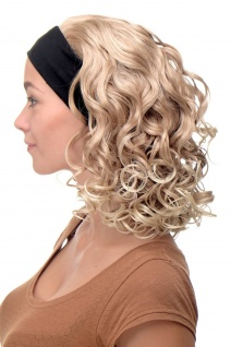 Damenperücke Perücke Stirnband voluminös Locken Blond Blond-Mix BRO-704-27T613