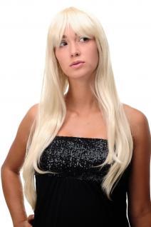 Perücke Blond Hellblond-Goldblond-Mix lang Scheitel sexy Wig 70cm 3111-303/220