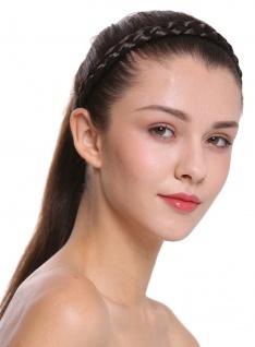Haarband Haarreif geflochten Tracht traditionell dunkelbraun braid CXT-006-004