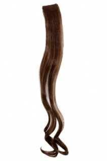 1 CLIP Extension Strähne wellig Hell-Braun YZF-P1C18-8 45cm Haarverlängerung