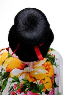 Karneval Fasching Perücke Geisha Asia Japan Cosplay China Girl Schwarz 2120-P103 - Vorschau 4