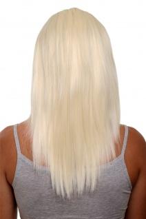 Clip-in Haarteil 5 Klammern 3/4 Perücke Platinblond Blond ca. 50cm HD1401-613