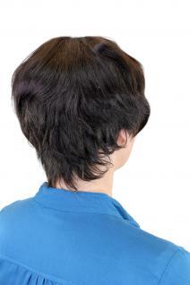 100% Echthaar: Kesse, kurze Damenperücke Dunkelbraun/ Naturfarbe 8019HH-0 - Vorschau 3