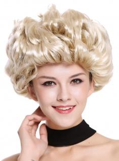Perücke Damen Karneval Fasching kurz Blond hellblonde Spitzen Locken Retro 80er