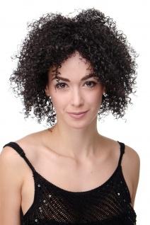 Damen Perücke kraus gelockt voluminös Afro Karibik wild dunkelbraun SALAM-C-4
