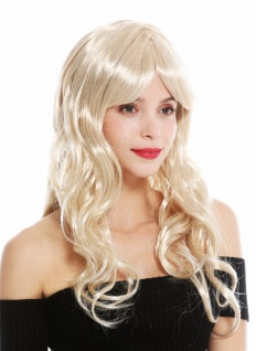 Perücke Damen Karneval lang wellig Pony gescheitelt Blond Mix 91164-ZA87A/ZA82