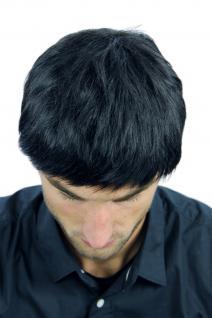 Perücke Herrenperücke Männer kurz schwarz glatt K-006-1B Perrücke - Vorschau 4