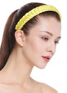 Haarband Haarreif geflochten Tracht traditionell neongelb braid CXT-002-310