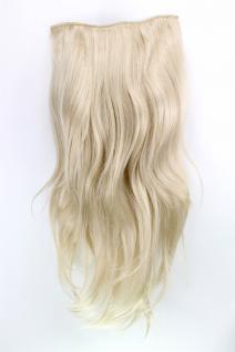 Clip-In Haarteil mit 7 Klammern Halbperücke blond Länge: ca. 60 cm H9505-22